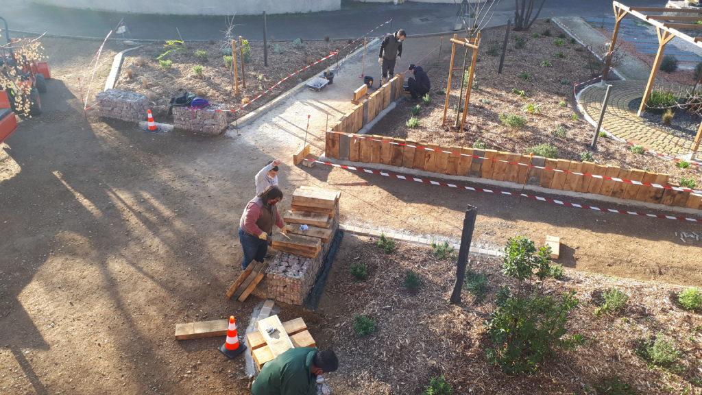 chantier pedagogique, capa, jardinier, paysagiste, jardin mediterranéen, aménagement paysager, martin luther king, narbonne, centre pierre reverdy